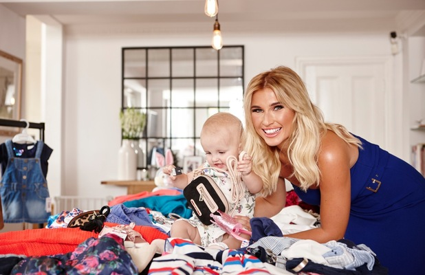 Billie Faiers and daughter Nelly on Reveal fashion shoot, London 2015