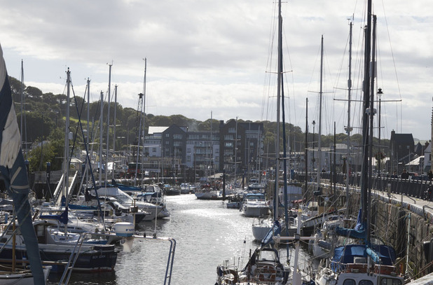 The quayside in Douglas, Isle of Mann