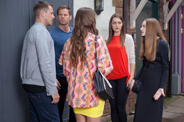 Hollyoaks, Maxine confronts Nico and Sienna, Wed 19 Aug