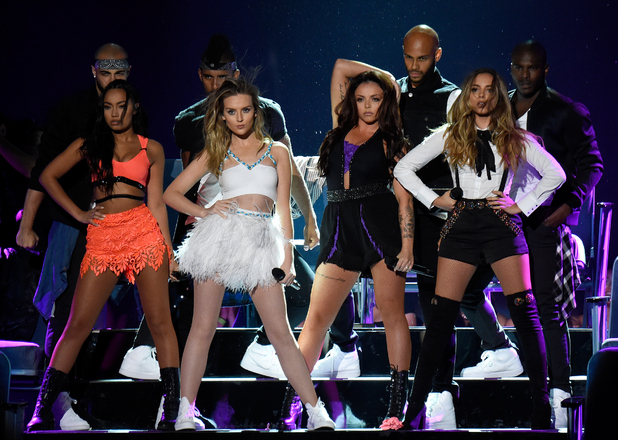 Leigh Anne Pinnock, Jesy Nelson, Perrie Edwards and Jade Thirlwall perform at the Teen Choice Awards 2015 , 16th August 2015