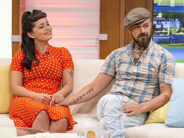 Vicky Fallon and Abz Love on Good Morning Britain -  London, Britain - 14 Aug 2015.
