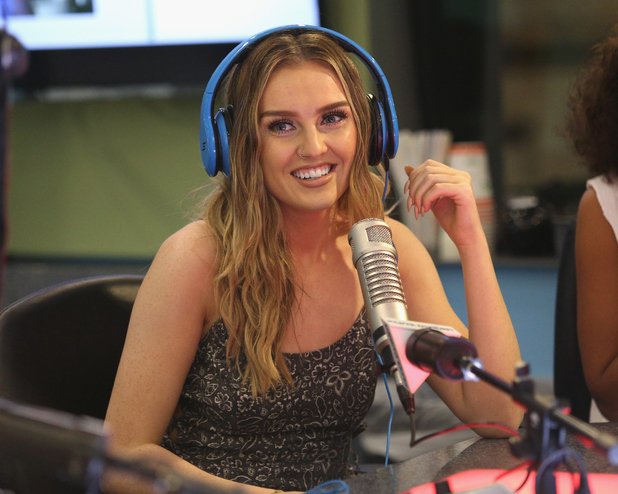 Perrie Edwards, Jesy Nelson, Leigh Anne Pinnock, Jade Thirlwall from Little Mix visit 'The Elvis Duran Z100 Morning Show' in New York, 20th August 2015