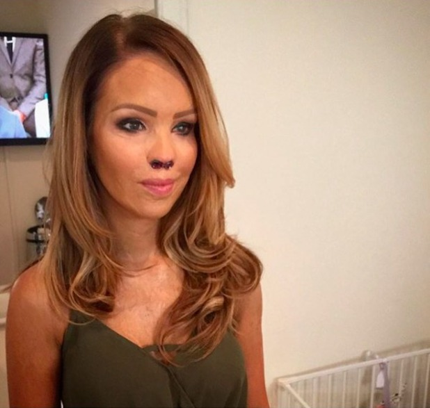 Katie Piper films her new show Extraordinary Births, 21 August 2015