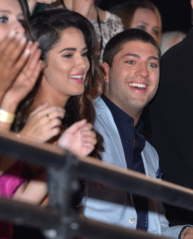 Kimberly Kisselovich and Steven Goode attend the final of Big Brother 2014 at Elstree Studios on August 15, 2014 in Borehamwood, England.