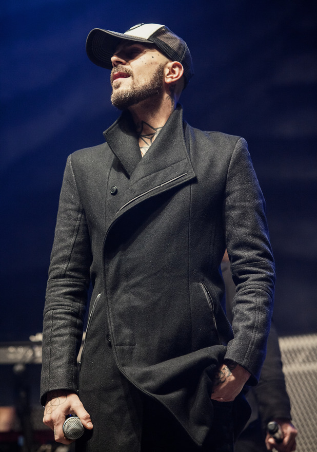 Abz Love of 5ive performs on stage at Echo Arena on November 19, 2013 in Liverpool, United Kingdom.