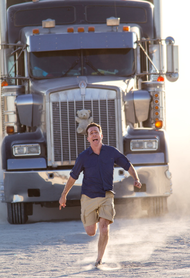 Vacation movie - Rusty Griswold gets chased by a truck. August 2015.