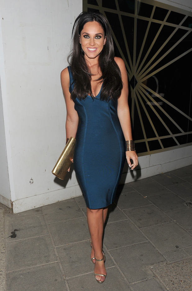 Vicky Pattison leaving Dirty Martini Bar, 18th August 2015