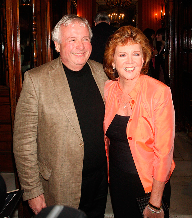 Christopher Biggins and Cilla Black Gala night for Calender Girls at the Noel Coward theater - departures London, England - 20.04.09