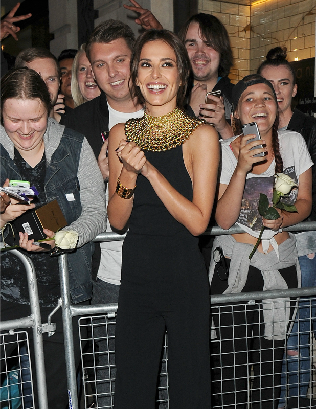 Cheryl Fernandez Versini arriving at her perfume launch in Central London 18 August 2015