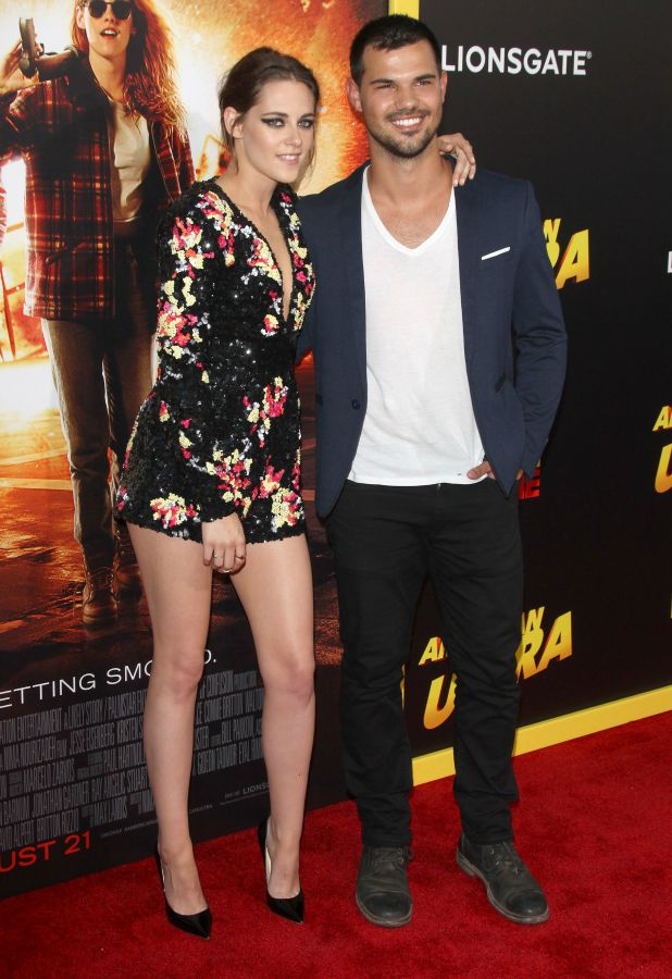 'American Ultra' film premiere, Los Angeles, America - 18 Aug 2015 Kristen Stewart and Taylor Lautner