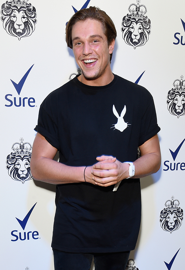 Lewis Bloor attends the world's first movement activated performance by singer Ella Eyre, partnered with leading antiperspirant Sure, where the more the audience move, the more spectacular and energised Ella's set will become, at the Century Club on August 19, 2015 in London, England. (Photo by Dave Benett/Getty Images for Sure)