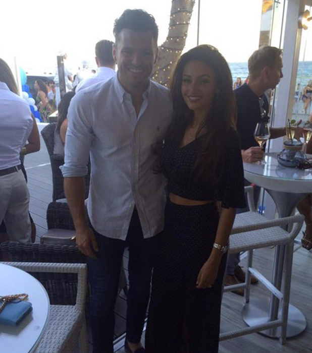 Mark Wright and Michelle Keegan at Olivia's launch 2015