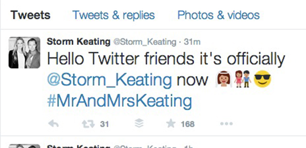 Storm Uechtritz becomes Mrs Keating after Ronan wedding 21 August 2015