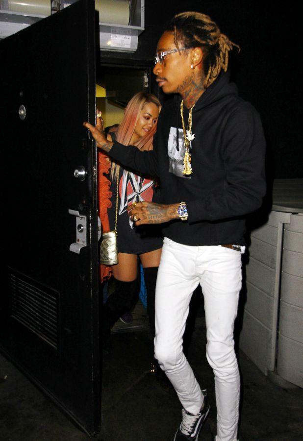 Rita Ora and Wiz Khalifa leaving 'The Nice Guy' restaurant, Los Angeles, America - 18 Aug 2015
