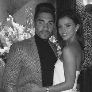 Louis Smith treats Lucy Mecklenburgh to dinner on her birthday, 29 August 2015.