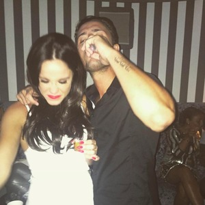 Vicky Pattison and Stevie Bear, 29 August 2015