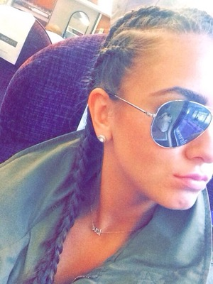 Brooke Vincent Blog: Brooke with hair braided 27 August