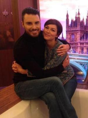 Rylan and Emma in the Celebrity Big Brother house - 24 August 2015.