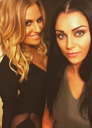 Cally Jane Beech and Danielle Armstrong enjoy night out, 29 August 2015