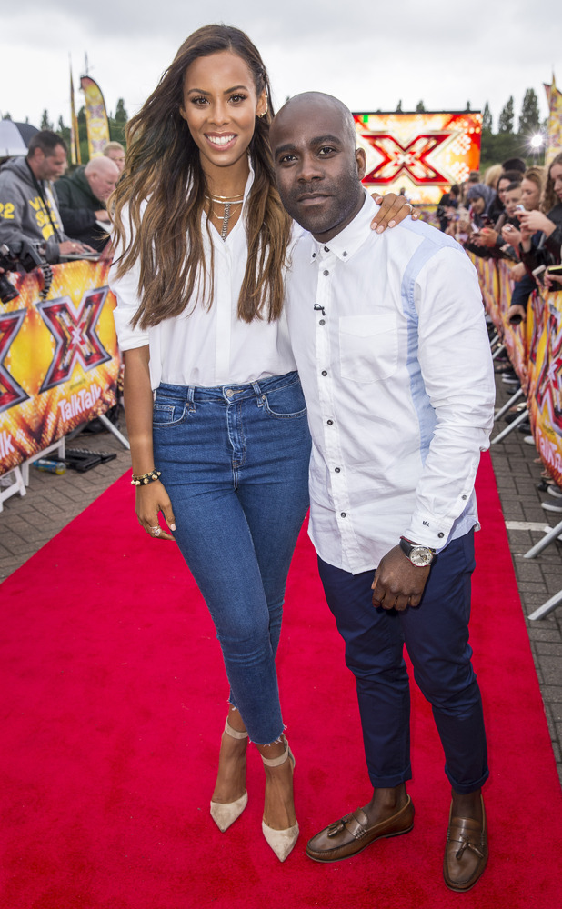 Rochelle Humes and Marvin Odom at the launch of The X Factor 2015