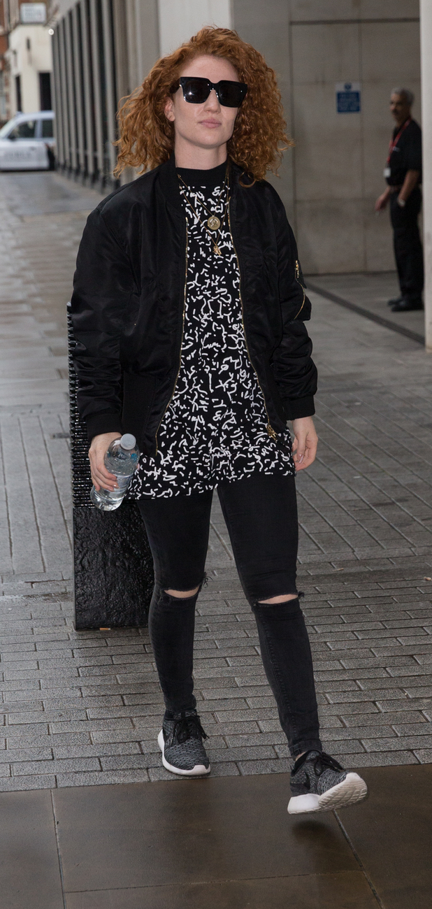 Jess Glynne arriving at Radio 1 studios in London 24th August 2015