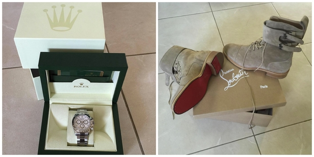 Jodie Marsh reveals wedding details with a snap of the grooms shoes, 26th August 2015