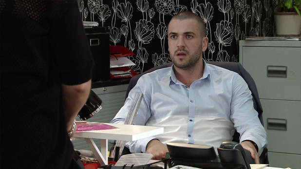 Corrie, Aiden's left in charge, Wed 26 Aug