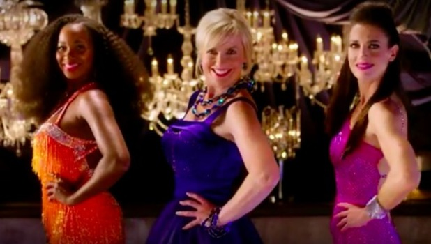 Jamelia, Carol Kirkwood and Kirsty Gallacher star in BBC's Strictly Come Dancing trailer.