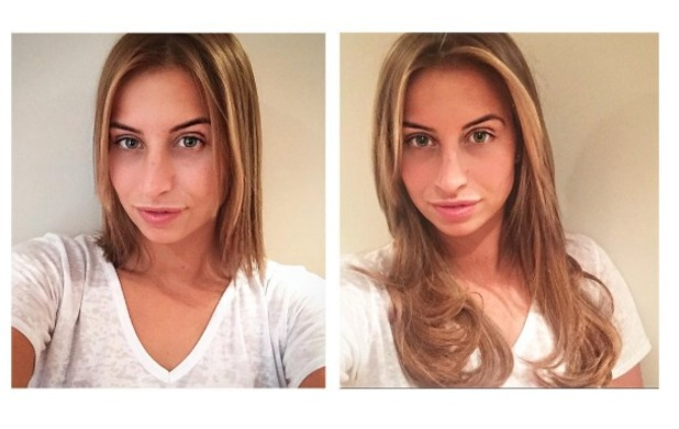 Ferne McCann shows off her new Great Lengths hair extensions, by Hollie Empson, 26 August 2015