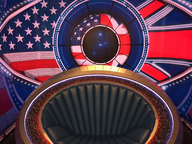 Reveal tour the Celebrity Big Brother house - Diary Room chair - 24 August 2015.