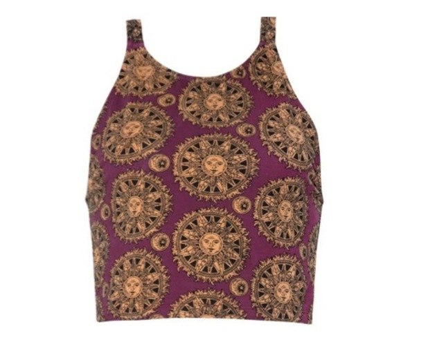 Ringers Crop Top in Sundial by Motel, £18