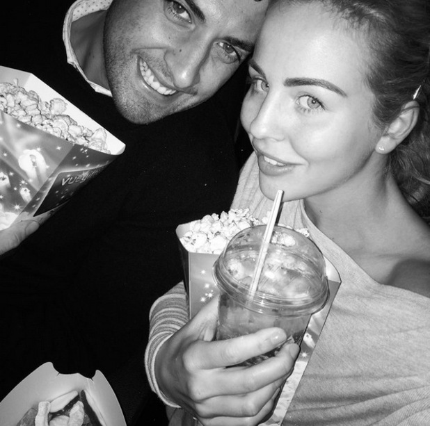 Lydia Bright and James Arg Argent on cinema date, Instagram 25 August