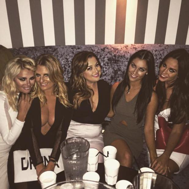 Cally Jane Beech shares snap of night out with Danielle Armstrong, Chloe Sims and Vicky Pattinson, 29 August 2015