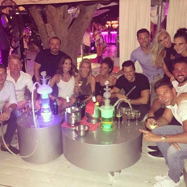 Mark Wright parties with Michelle Keegan in Ibiza, 29 August 2015.
