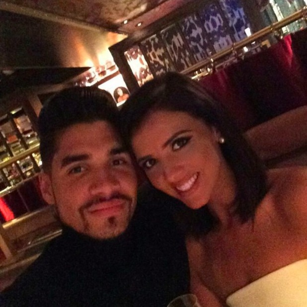 Lucy Mecklenburg celebrates 24th birthday with Louis Smith, 29 August 2015.
