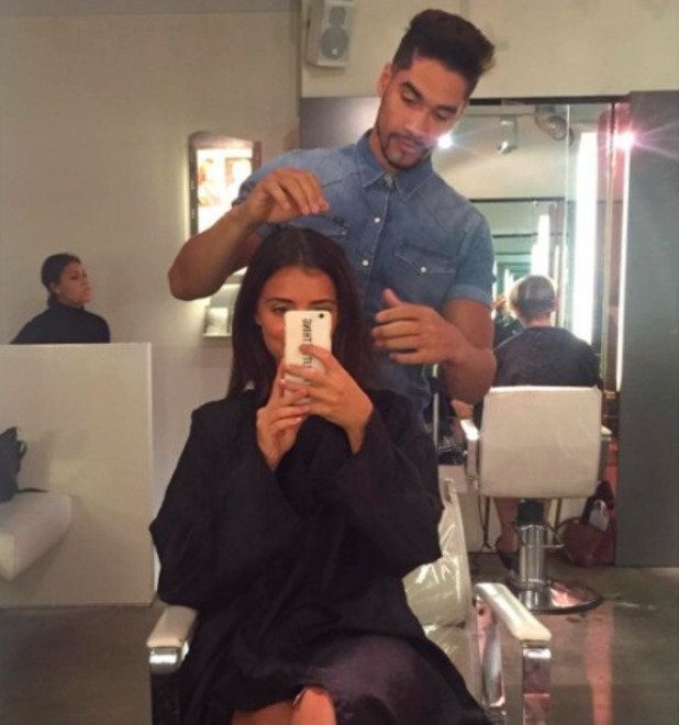 Lucy Mecklenburg lets Louis Smith loose on her hair? 29 August 2015.