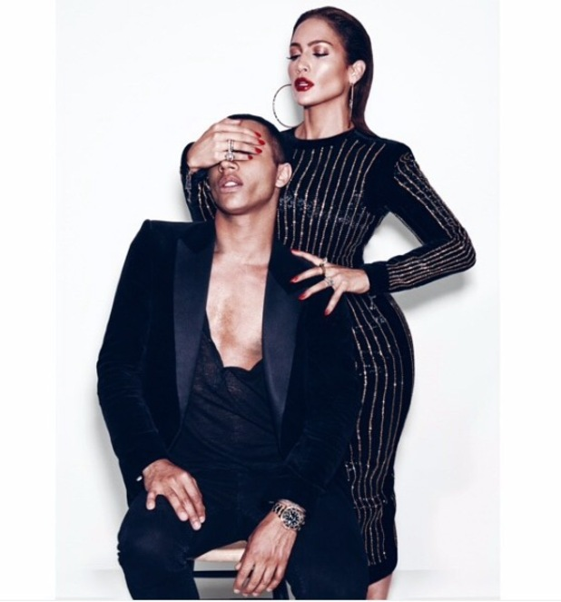 Jennifer Lopez and Oliver Rousteing pose for Paper Magazine shoot, 27th August 2015