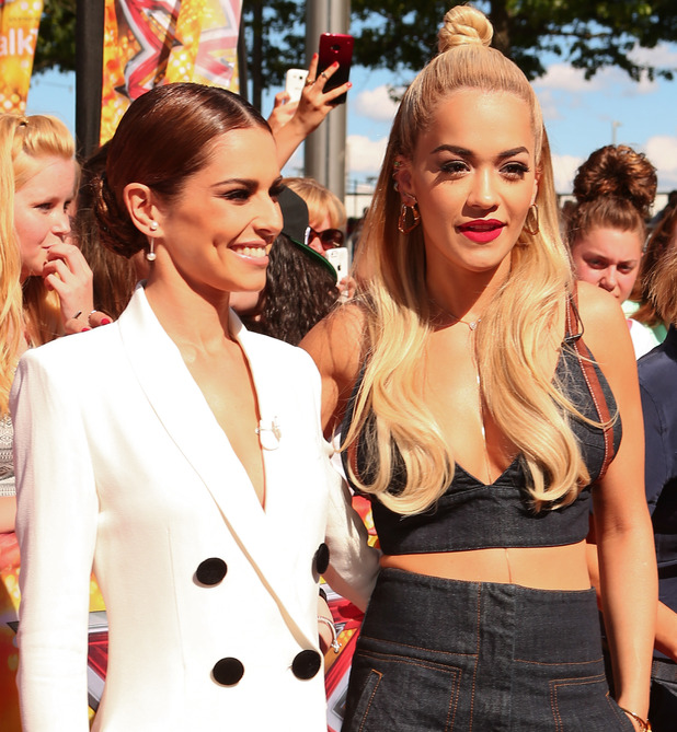 Cheryl Fernandez-Versini and Rita Ora and The SSE Arena, Wembley for the London auditions of The X Factor, 19 July 2015