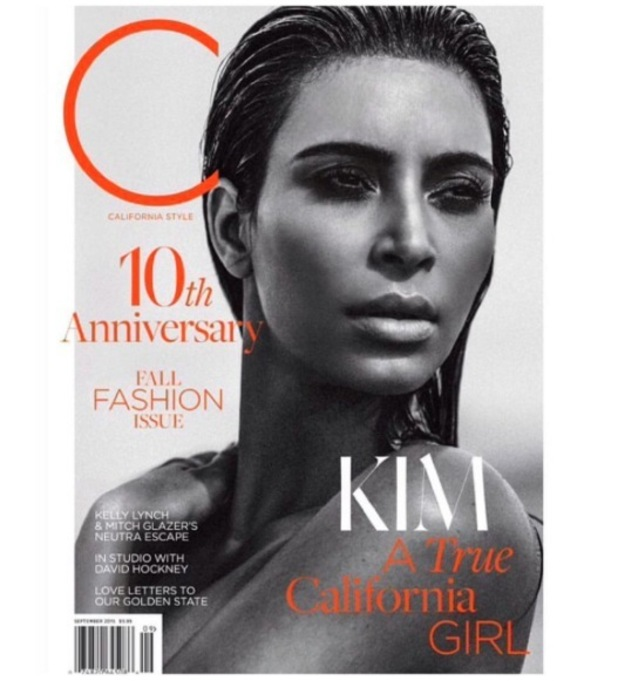 Kim Kardashian on the front cover of C Magazine, 28th August 2015