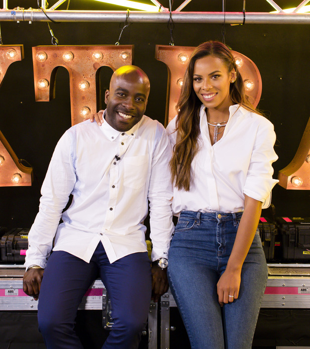 Rochelle Humes and Marvin Odoom at the launch of The X Factor 2015