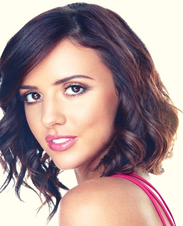 Lucy Mecklenburgh on Sunkissed Bronzing shoot, tousled waves 26th August 2015