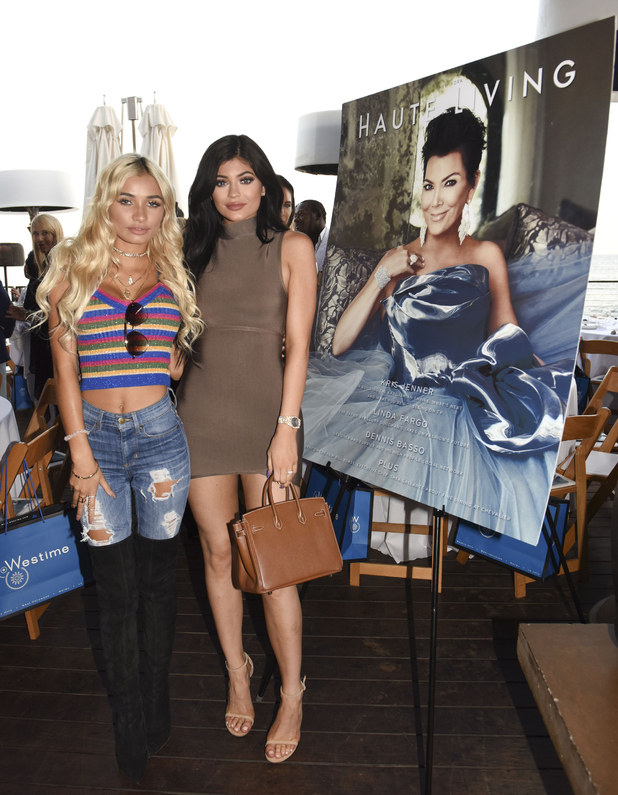 Kylie Jenner and Pia Mia at Kris Jenner's Haute Living cover unveiling 26th August 2015