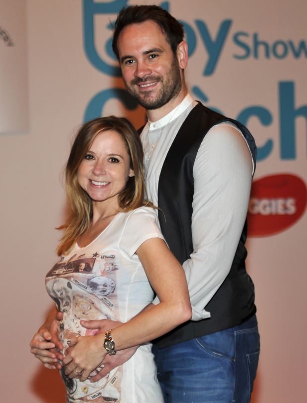 Ayden Callaghan and Sarah-Jayne Honeywell attend The Baby Show 2015 at the NEC Birmingham, 17th May 2015