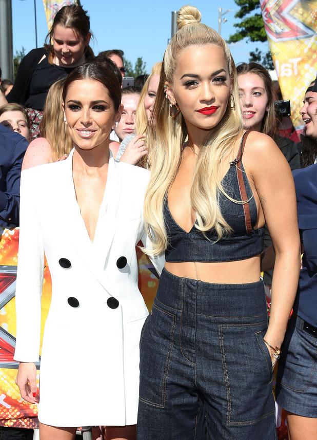 Cheryl Fernandez-Versini and Rita Ora at X Factor auditions 19 July