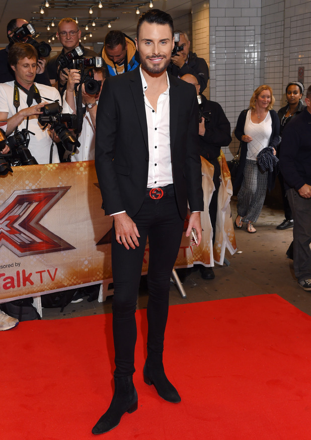Rylan Clark attends the series launch for The X Factor, London 26 August