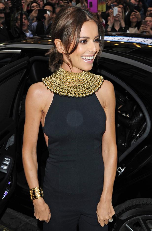 Cheryl Fernandez-Versini arrives at the launch of her new fragrance StormFlower Noir 18 August