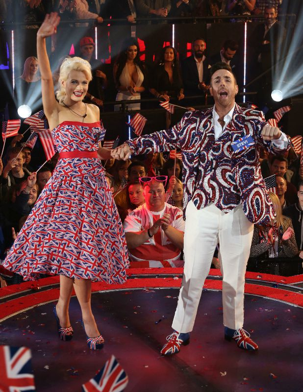 Chloe Jasmine and Stevi Ritchie Celebrity Big Brother launch show, 27 August 2015