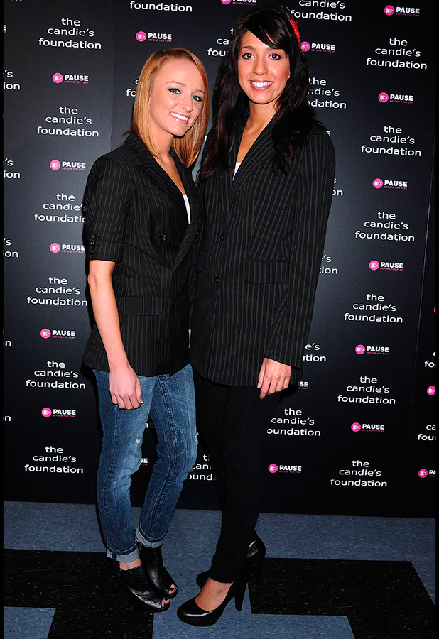 Maci Bookout and Farrah Abraham 'The Harsh Truth: Teen Moms Tell All' hosted by The Candie's Foundation at Lighthouse International Conference Center 2010