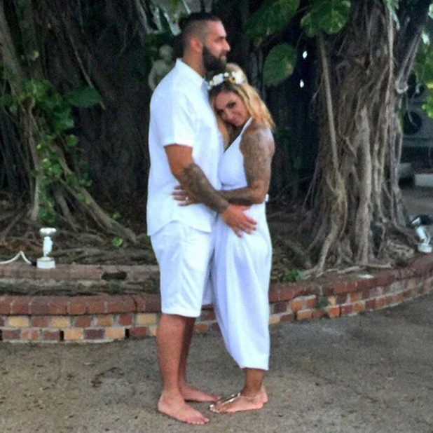 Jodie Marsh's wedding jumpsuit by 1PinkStrawberry 26 August 2015