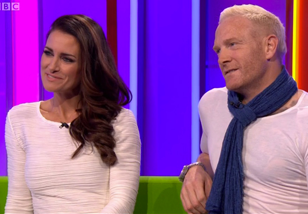 Kirsty Gallacher and Iwan Thomas on BBC One Show 27 August 2015